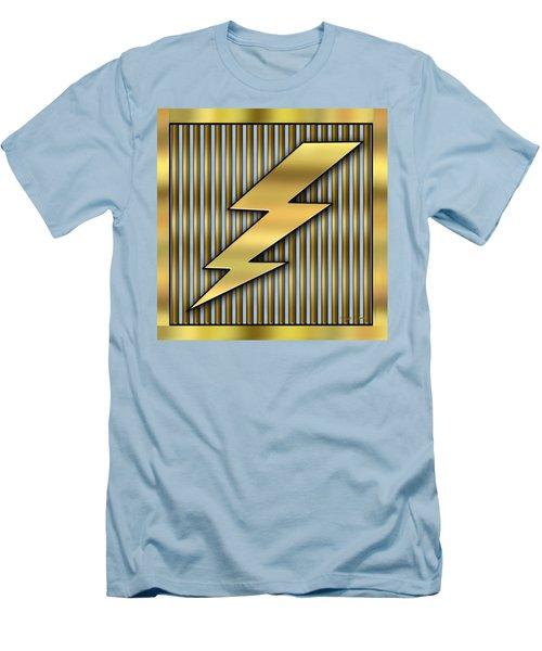 Lightning Bolt Men's T-Shirt (Slim Fit) by Chuck Staley