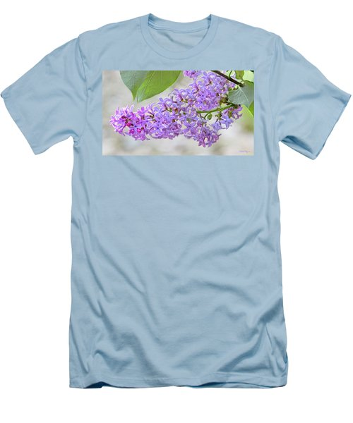 Men's T-Shirt (Slim Fit) featuring the photograph Lilac Cluster by Skip Tribby