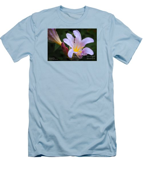 Men's T-Shirt (Athletic Fit) featuring the photograph Lily In The Rain By Flower Photographer David Perry Lawrence by David Perry Lawrence