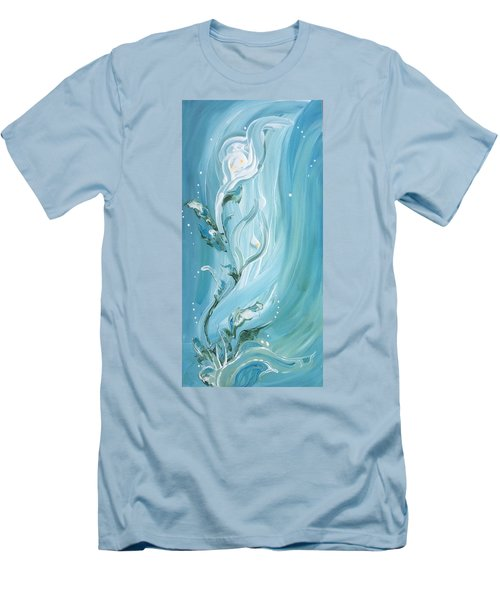 Lily Men's T-Shirt (Slim Fit) by Pat Purdy