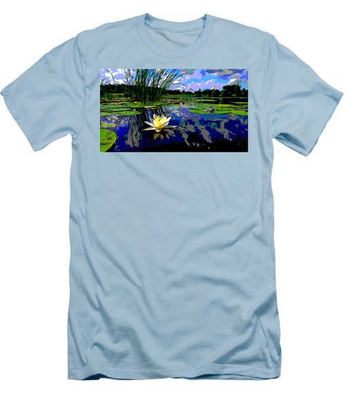 Lily Pond Men's T-Shirt (Slim Fit) by Charles Shoup