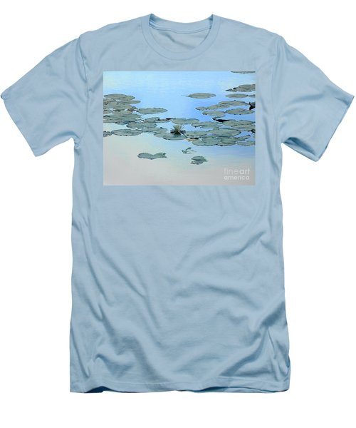 Men's T-Shirt (Slim Fit) featuring the photograph Lily Pond by Daun Soden-Greene