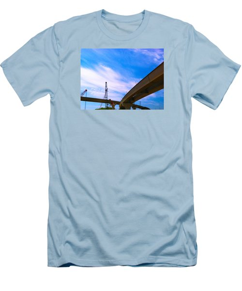 Men's T-Shirt (Slim Fit) featuring the photograph Lineing The Sky by Jamie Lynn