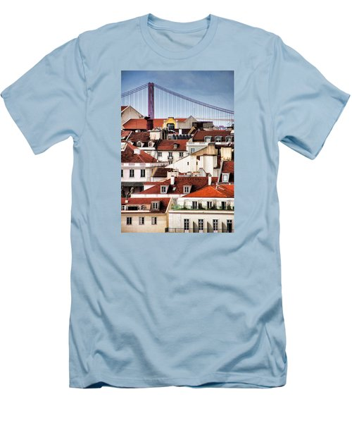 Lisbon Rooftops Men's T-Shirt (Slim Fit) by Dennis Cox WorldViews