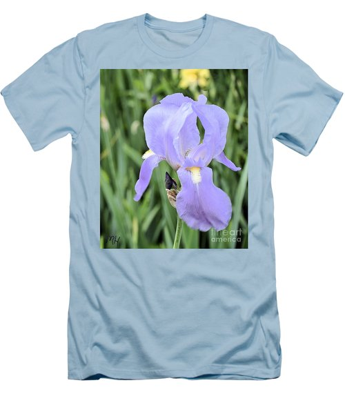 Lissy Iris Men's T-Shirt (Slim Fit) by Marsha Heiken