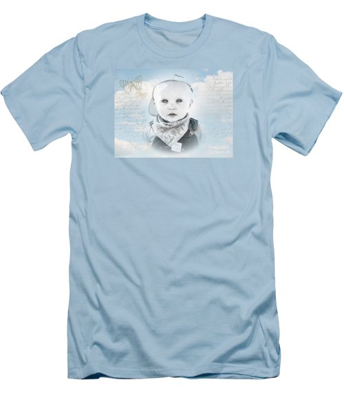 Little Boy Blue Men's T-Shirt (Slim Fit) by Karen Lewis