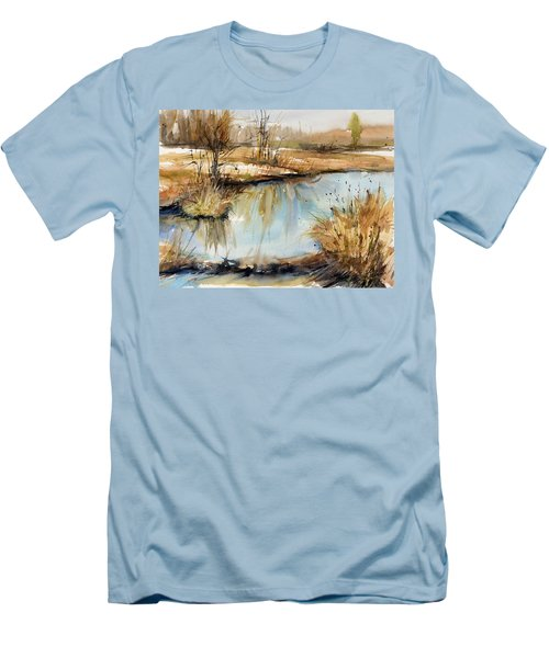 Little Dam Men's T-Shirt (Slim Fit) by Judith Levins