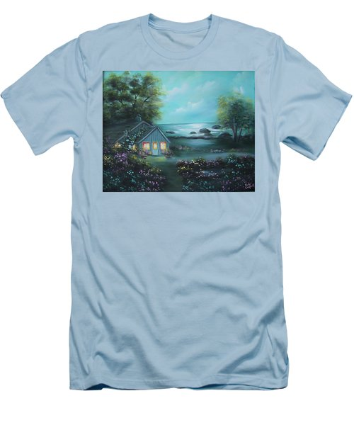 Little House By The Sea Men's T-Shirt (Athletic Fit)
