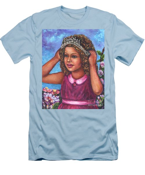 Men's T-Shirt (Slim Fit) featuring the painting Little Princess by Alga Washington