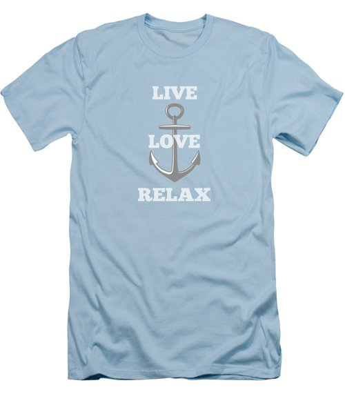 Live Love Relax - Customizable Color Men's T-Shirt (Slim Fit) by Inspired Arts