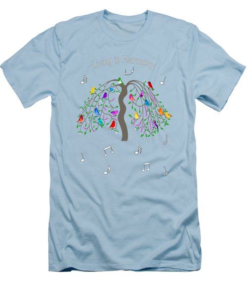 Living In Harmony Men's T-Shirt (Athletic Fit)