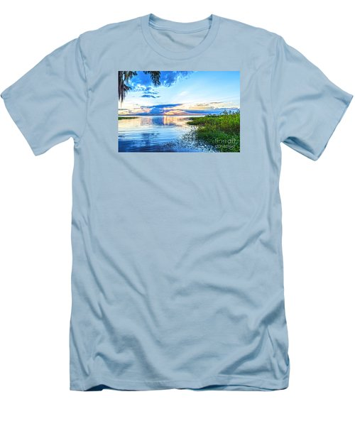Lochloosa Lake Men's T-Shirt (Slim Fit) by Anthony Baatz