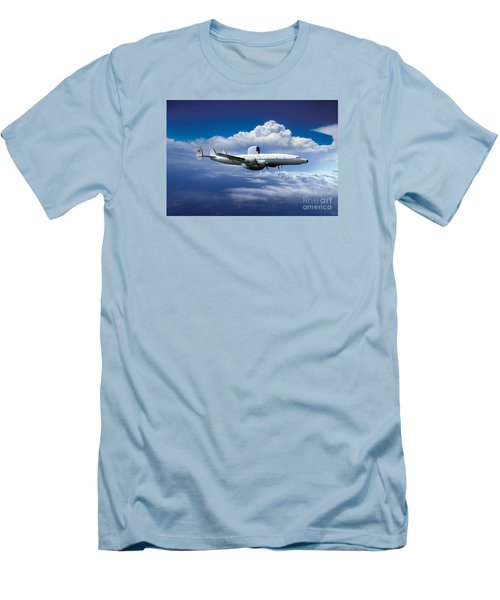 Willie Victor, Lockheed Ec-121k Warning Star In Flight Men's T-Shirt (Slim Fit) by Wernher Krutein