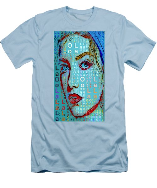 Men's T-Shirt (Athletic Fit) featuring the digital art Lola Knows by Rafael Salazar