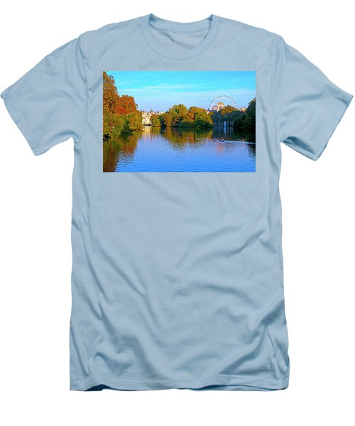 London Eye And Palace Men's T-Shirt (Slim Fit) by Haleh Mahbod
