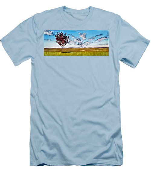 Lonely Autumn Tree Men's T-Shirt (Athletic Fit)