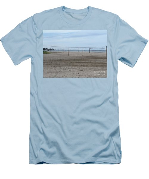 Lonely Beach Volleyball Men's T-Shirt (Slim Fit) by Erick Schmidt