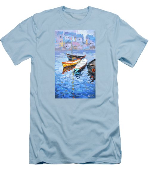 Lonely Boats  Men's T-Shirt (Slim Fit)