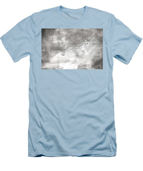 Men's T-Shirt (Slim Fit) featuring the painting Lonesome Dove by Gray  Artus