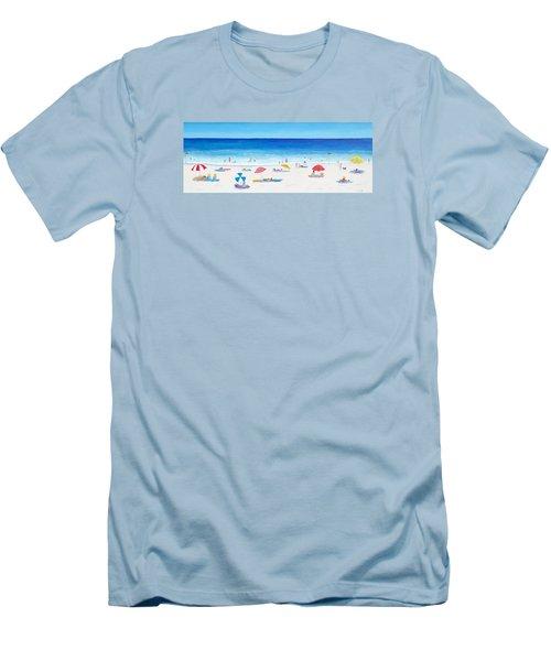 Long Hot Summer Men's T-Shirt (Slim Fit) by Jan Matson