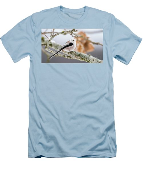 Men's T-Shirt (Slim Fit) featuring the photograph Long-tailed Tit by Torbjorn Swenelius