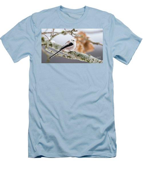 Long-tailed Tit Men's T-Shirt (Slim Fit) by Torbjorn Swenelius