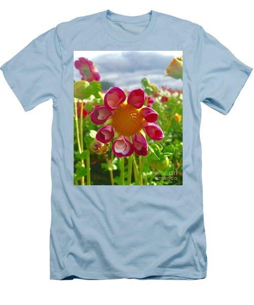 Look At Me Dahlia Men's T-Shirt (Slim Fit) by Susan Garren