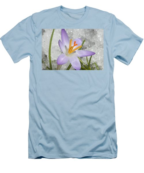 Men's T-Shirt (Slim Fit) featuring the digital art Look To The Sun by Barbara S Nickerson