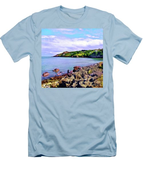 Looking Across Men's T-Shirt (Slim Fit) by Judi Bagwell