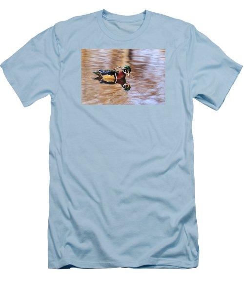 Looking At Me Men's T-Shirt (Slim Fit) by Lynn Hopwood