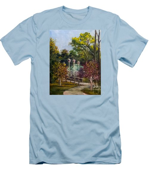 Men's T-Shirt (Slim Fit) featuring the painting Looking Back At The Vietnam Memorial by Jim Phillips