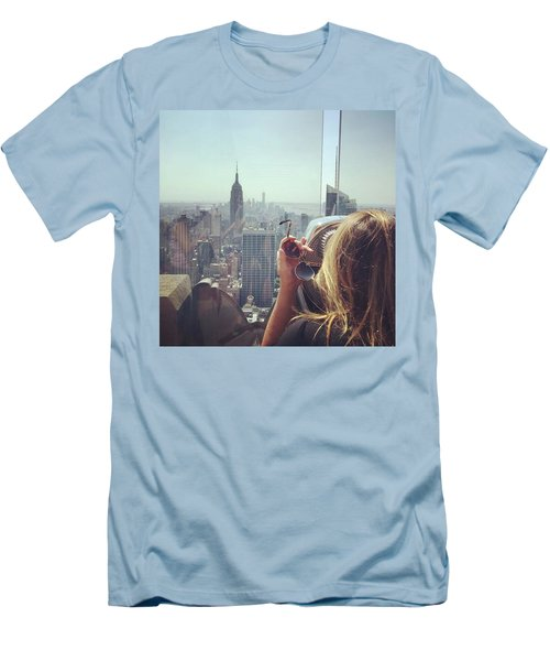Looking Downtown In Style. #nyc Men's T-Shirt (Athletic Fit)