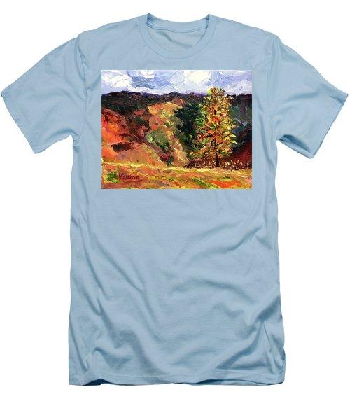 Loose Landscape Men's T-Shirt (Slim Fit) by Janet Garcia
