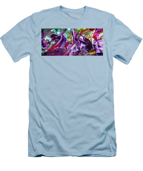 Lord Of The Rings Art - Colorful Modern Abstract Painting Men's T-Shirt (Slim Fit) by Modern Art Prints