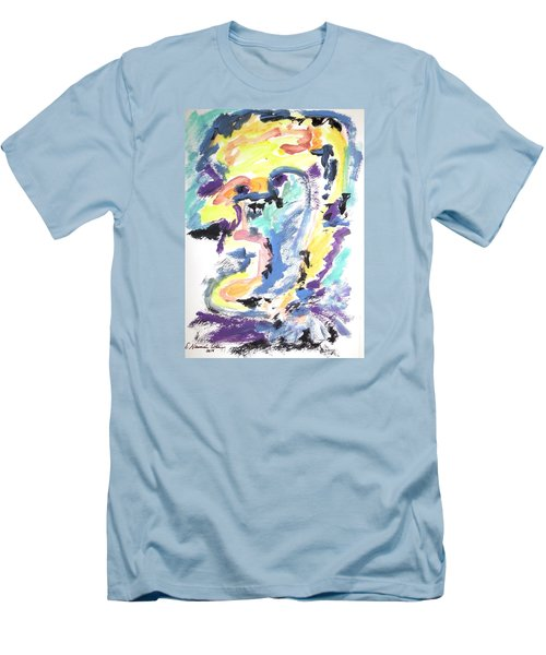 Men's T-Shirt (Slim Fit) featuring the painting Loss Of Consciousness by Esther Newman-Cohen