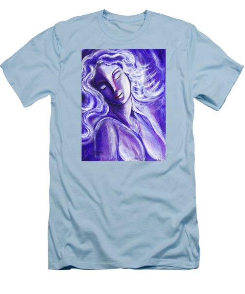 Men's T-Shirt (Slim Fit) featuring the painting Lost In Thought by Anya Heller
