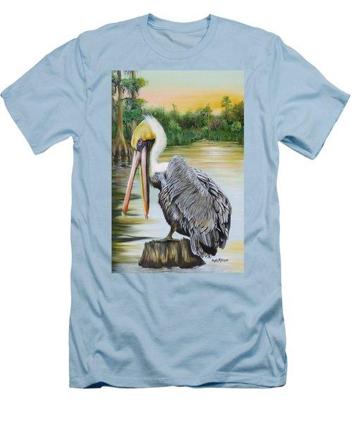 Louisiana Sunrise Men's T-Shirt (Slim Fit) by Phyllis Beiser