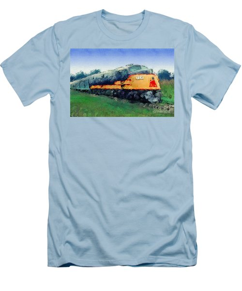 Louisville And Nashville E6a Diesel Locomotive Men's T-Shirt (Slim Fit) by Wernher Krutein