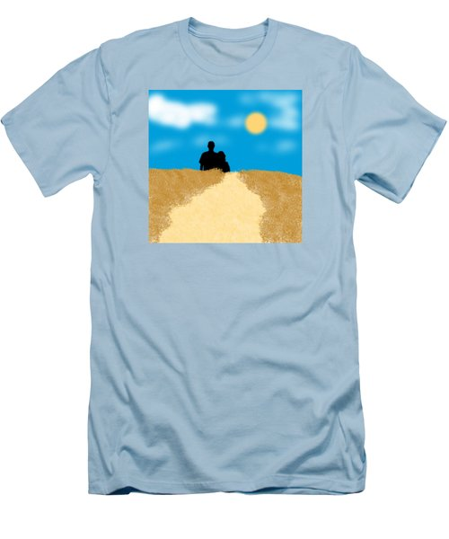 Men's T-Shirt (Slim Fit) featuring the digital art Love Birds by Karen Nicholson