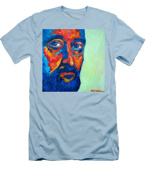 Men's T-Shirt (Slim Fit) featuring the painting Love Him So Much by Ana Maria Edulescu
