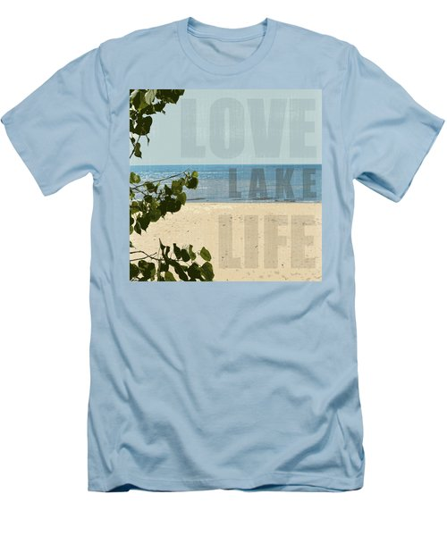 Men's T-Shirt (Athletic Fit) featuring the photograph Love Lake Life by Michelle Calkins
