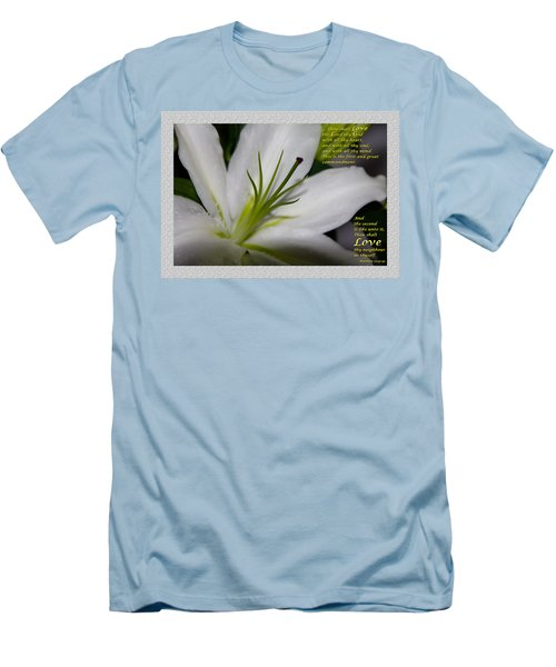 Love Men's T-Shirt (Slim Fit) by Terry Wallace