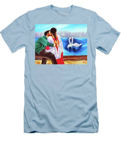 Men's T-Shirt (Slim Fit) featuring the painting Love Undefined by Ragunath Venkatraman