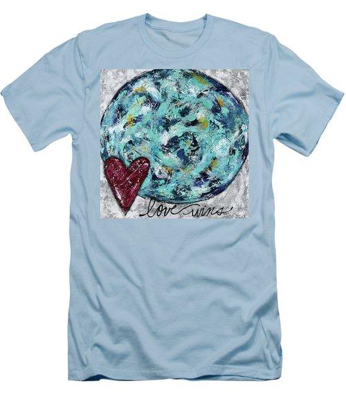 Love Wins Men's T-Shirt (Slim Fit) by Kirsten Reed