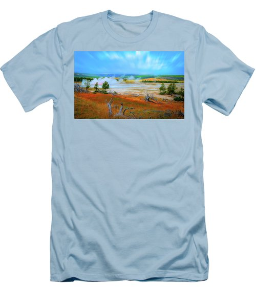 Lower Basin Men's T-Shirt (Slim Fit) by Mark Dunton
