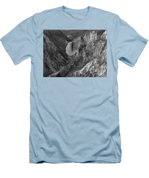 Lower Falls Men's T-Shirt (Slim Fit) by Sheila Ping
