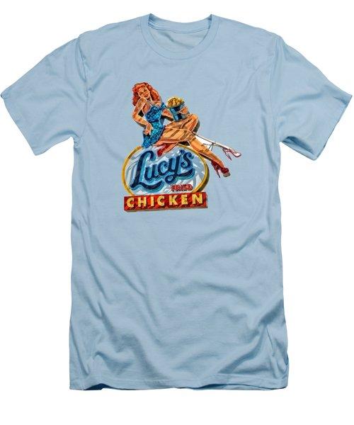 Lucys Fried Chicken Tee Men's T-Shirt (Slim Fit) by Edward Fielding
