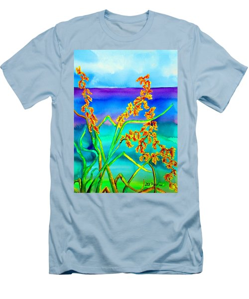 Men's T-Shirt (Slim Fit) featuring the painting Luminous Oats by Lil Taylor