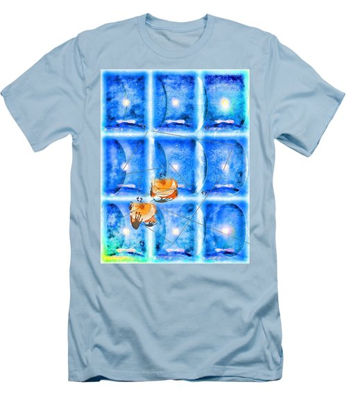 Men's T-Shirt (Slim Fit) featuring the photograph Lunar Balance by Kathy Bassett