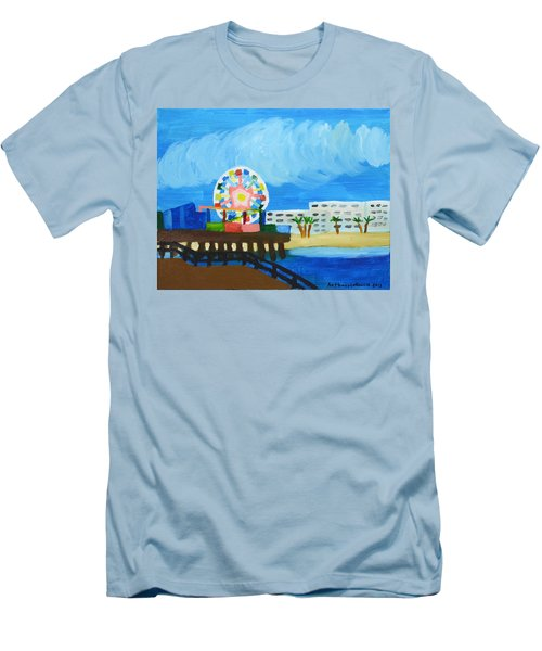 Lyndas Ferris Wheel Men's T-Shirt (Slim Fit) by Anthony Larocca